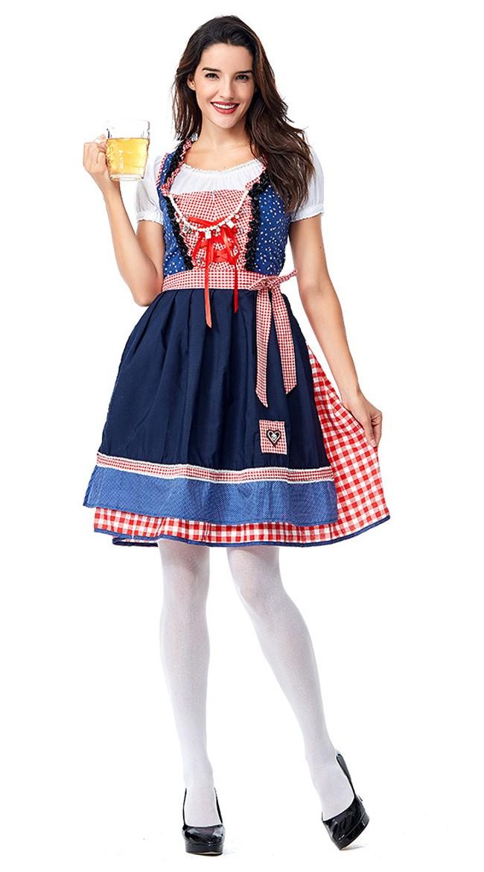 Klassisk Tysk Oktoberfest Kostyme Traditional Kjole