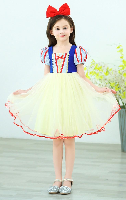Jenter Snøhvit Kostyme Kortermet Prinsessekjole