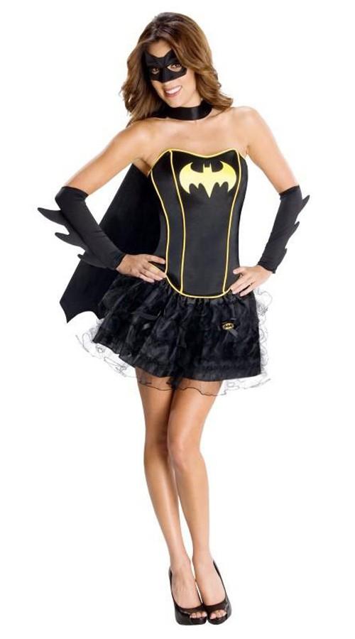 Sexy Korsett Batgirl Kostyme Voksen