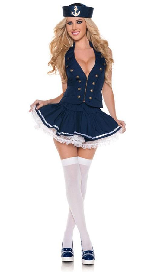 Sexy Sassy Matros Kostyme