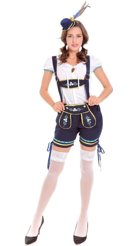 Traditional Oktoberfest Lederhosen Kostyme Dame