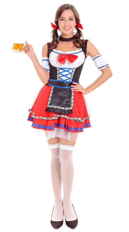 Kort Bayersk Oktoberfest Kostyme Dame