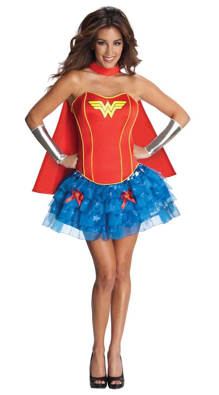 Sexy Korsett Wonder Woman Kostyme