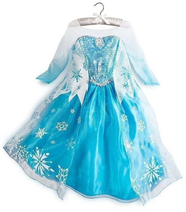 Isdronning Jenter Kjoler Elsa Frozen Kostyme