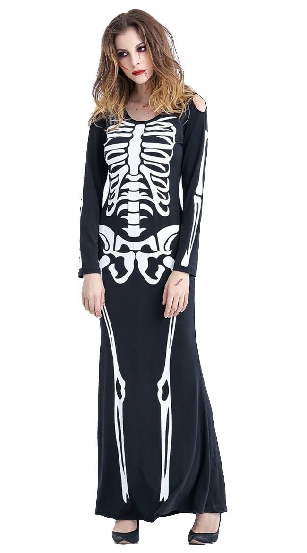 Halloween Skjelett Kostyme Maxi Kjole
