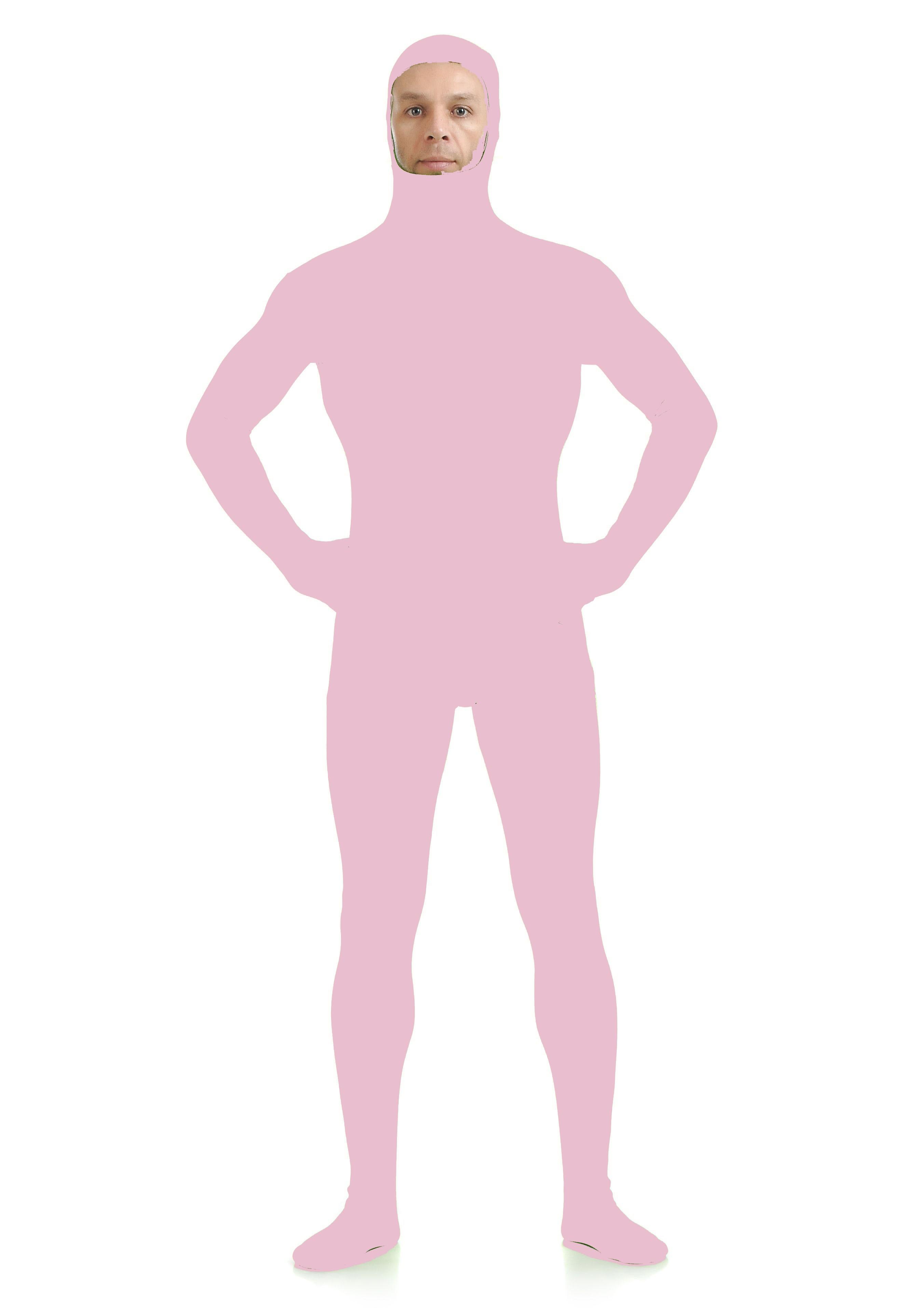 Skinsuits Lycra Spandex Drakt Åpent Ansikt Second Skin Suit Voksen Rosa