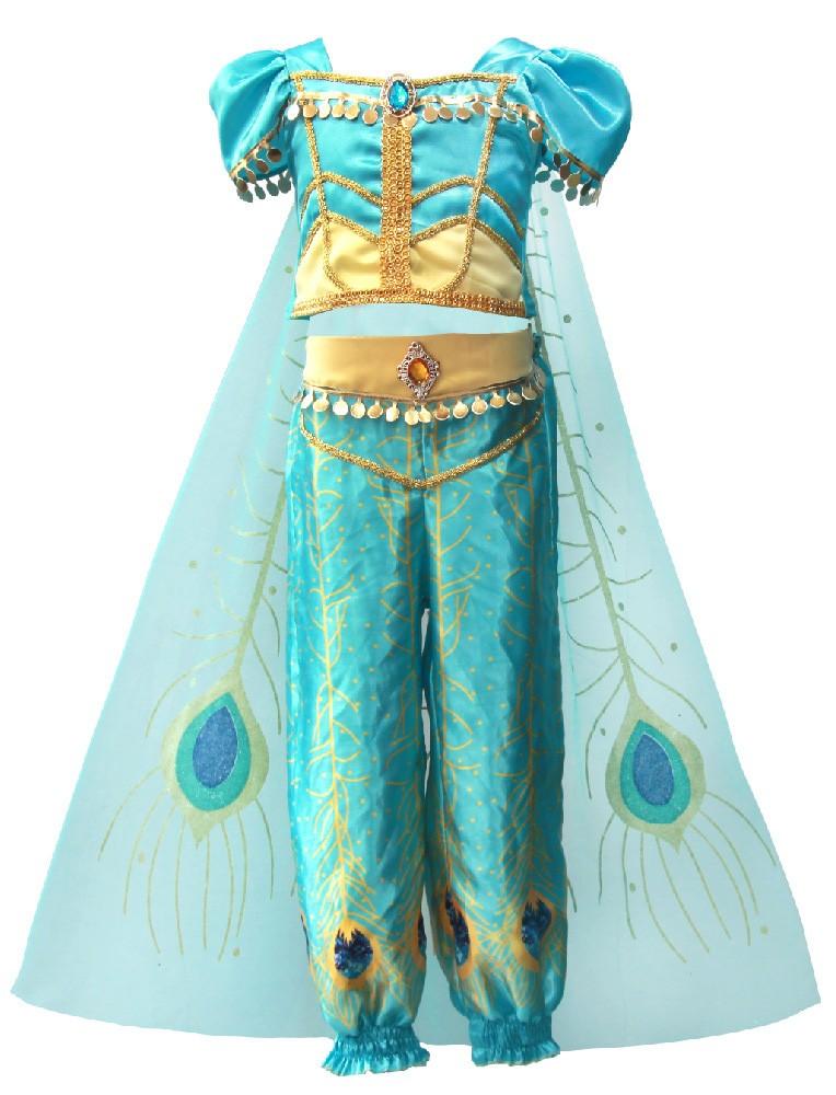Barn Magedans Aladdin Prinsesse Jasmine Sassy Prestisje Kostyme
