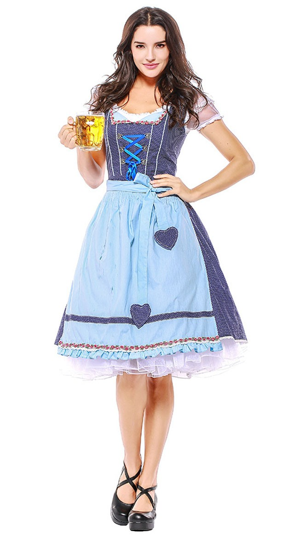 Traditional Oktoberfest Kostyme Dirndl Heidi Kjole