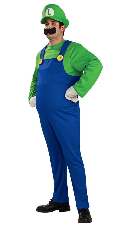 Deluxe Super Mario Bros Luigi Kostyme Voksen