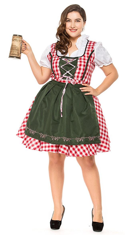 Traditional Lang Oktoberfest Kostymer Store Størrelser