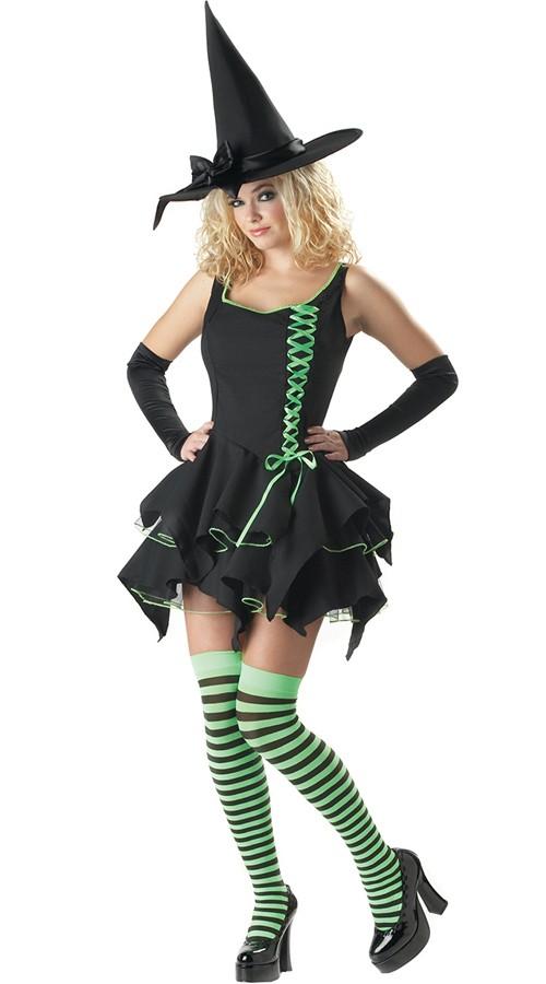 Halloween Kostymer Frøken Søt Heks Kostyme