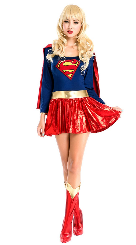 Deluxe Tegneserie Superwoman Kostyme