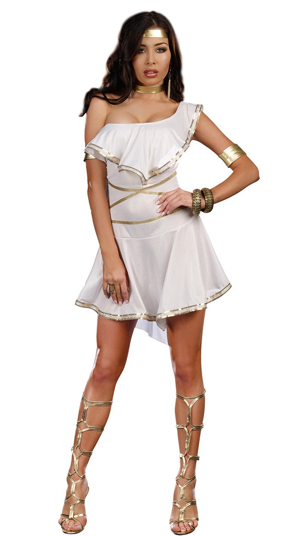 gresk gudinne kostyme sexy dameundertøy