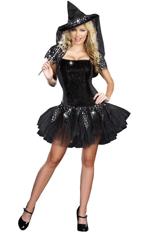 Halloween Kostymer Starry Night Heks Kostyme