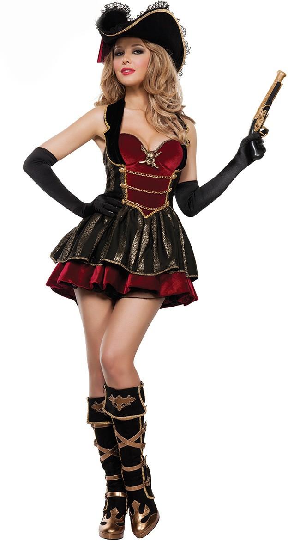 Deluxe Booty Pirat Kostyme Voksen Dame
