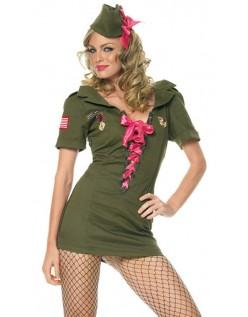Kadett Army Kostyme Rosa