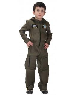 Barn Top Gun Kostyme Pilot Kostymer