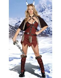 Viking Gladiator Kostyme Kvinner