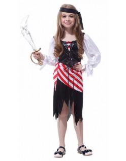 Halloween Av Karibiske Piratkostyme Jente