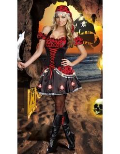 Halloween Kostymer Lidenskap Pirat Kostyme