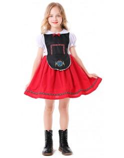Bayersk Barn Oktoberfest Kostyme Jente Tyrolerkjole