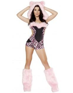 Rosa Leopard Kostyme for Halloween