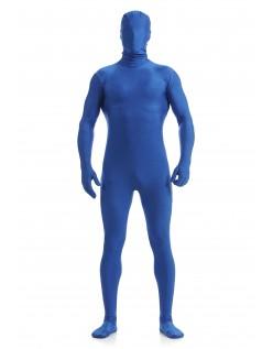 Morphsuit Skinsuit Lycra Spandex Drakt Heldekkende Herre Mørkblå