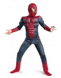 Klassisk Spiderman Muskel Kostyme Barn Halloween Kostymer