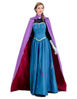 Deluxe Frozen Anna Kostyme Voksen Prinsessekjole