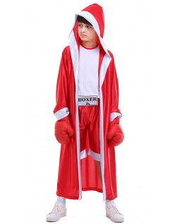 Gutter Bokser Kostyme Rød Halloween Barnekostyme