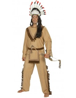 Deluxe Halloween Indianer Kostyme Herre