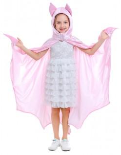 Barn Halloween Vampyr Kostyme Hette Kappe Rosa