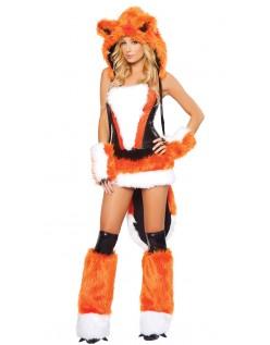 Sexy Oransje Stor Stygg Ulv Kostyme