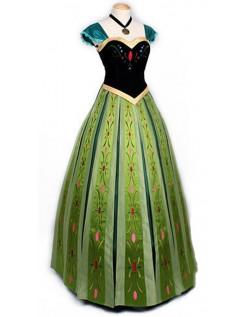 Deluxe Frozen Prinsessekjole Anna Kostyme for Voksne