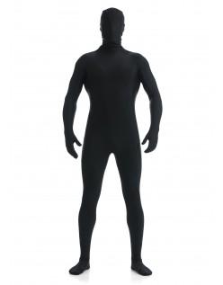 Morphsuit Skinsuit Lycra Spandex Drakt Heldekkende Herre Svart