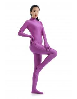 Morphsuit Lycra Spandex Drakt Second Skin Kostyme Dame Lilla