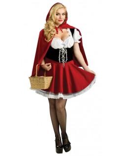 Sultry Lille Rødhette Kostyme Store Størrelser