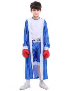 Gutter Bokser Kostyme Blå Halloween Barnekostyme