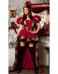 Deluxe Rød Dronning Kostyme Alice i Wonderland