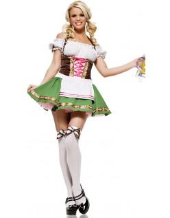 Tysk Gretchen Oktoberfest Kostyme