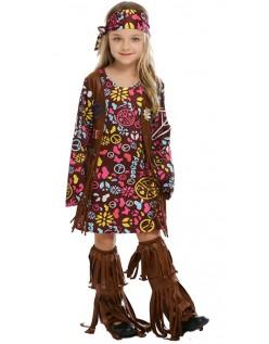 Peace & Love Hippie Kostyme for Barn