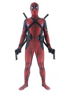 Deluxe Deadpool Kostyme for Voksen Marvel Cosplay Morphsuit