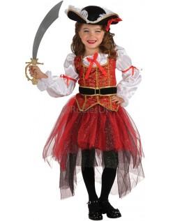 Jente Prinsesse Sjø Pirat Kostyme Barn