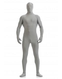 Morphsuit Skinsuit Lycra Spandex Drakt Heldekkende Herre Grå