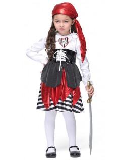Halloween Lekende Pirat Kostymer Jente