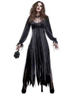 Halloween Råtnende Zombie Brud Kostyme