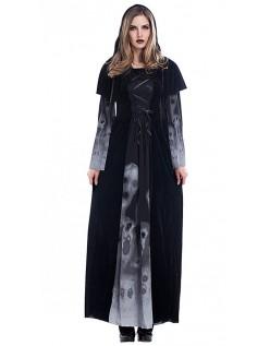 Dame Halloween Vampyr Heks Kostyme Spøkelsesdrakt
