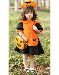 Barn Halloween Gresskar Kostyme Bat Maid kostyme Med Pose