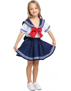 Barn Søtseilende Matros Kostyme for Jenter