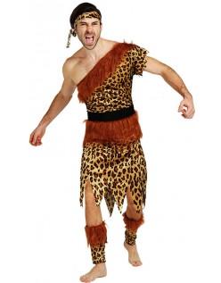Halloween Leopard Indianer Kostyme Herre